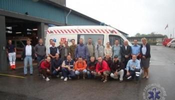 Polscy i Niemieccy ratownicy w Esbjerg w Danii